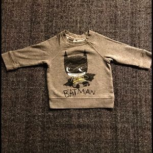 H&M Batman sweat shirt size 9-12m